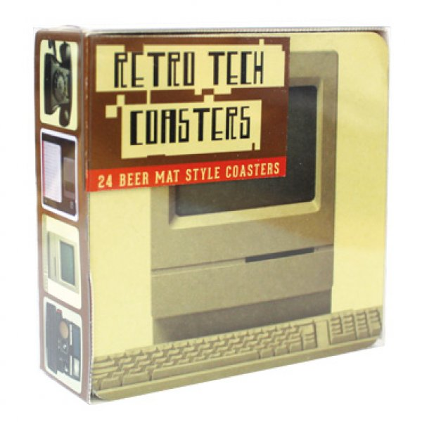 Sada tácků Retro Tech